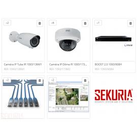 Vidéo Surveillance Entrepôt superficie inférieure à 500 m²