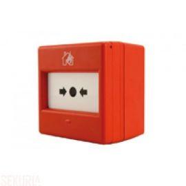 2570WP : Déclencheur manuel rouge d'alarme avec réarmement pour utilisation extérieur.