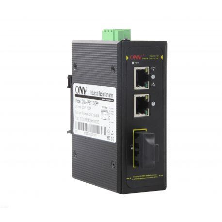 Switch POE industriel ONV 2 x RJ45 2x PoE 1 x 1 9 fiber modle