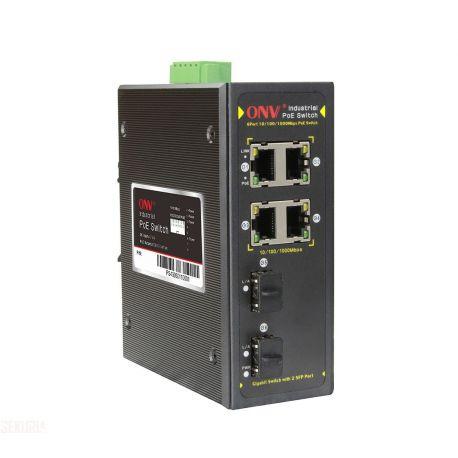 Switch POE industriel ONV 4x RJ45 4 x PoE 2 x SFP