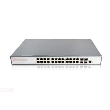 Switch POE industriel ONV 24 x RJ45 24 x PoE (Gigabit ethernet) Managed
