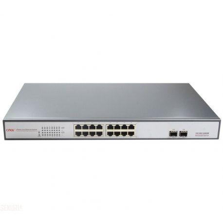 Switch Gigabit 18 Ports 440W 16 Ports PoE 2 Slots SFP fibre
