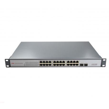 Switch Gigabit 24 Ports 440W 24 Ports PoE 2 Slots SFP fibre