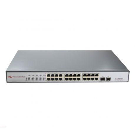Switch Gigabit 24 Ports 650W 24 Ports PoE 2 Slots SFP fibre