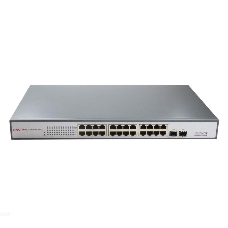 switch gigabit 24 ports 650w 24 ports poe gigabit 2 slots
