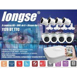 Kit de Videosurveillance 8 cameras AHD Interieures et exterieures + DVR +1 HDD 1To