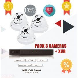 Pack de Videosurveillance 3 cameras HDTVI + XVR