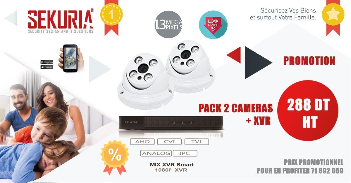 Pack cameras de surveillance Tunisie Prix